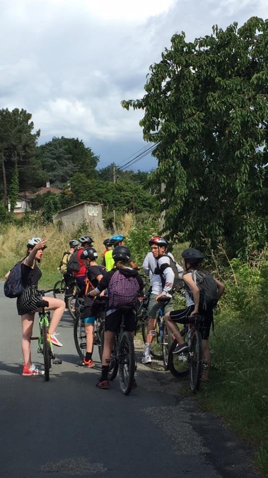 Projet vélo 4ème à Barbaste 47